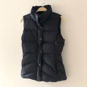 J CREW Navy Puffer Puffy Vest Fleece Inside XS